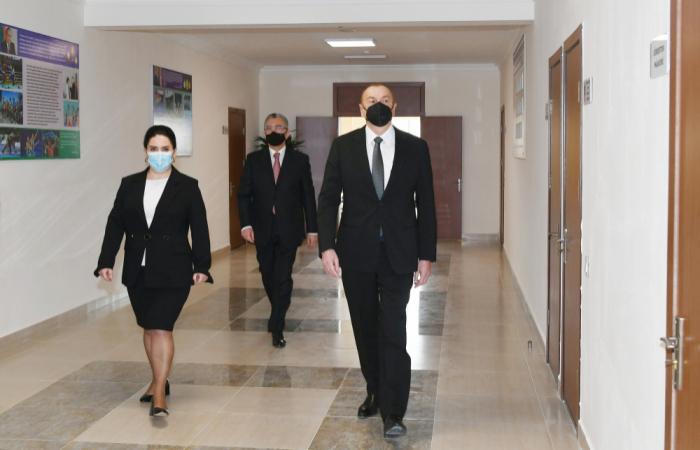 President Ilham Aliyev visits schools in Baku after major overhaul -  PHOTOS
