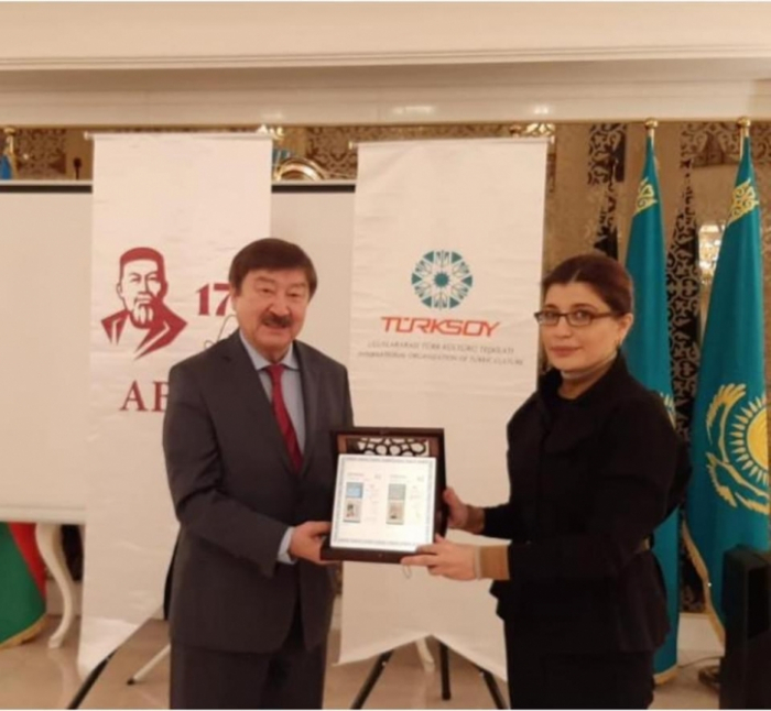 """President of International Turkic Culture and Heritage Foundation receives TURKSOY medal """"Abay 175 years"""""""