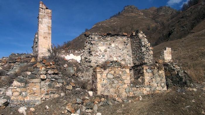 El Ministerio de Defensa emite imágenes de la aldea de Alibeyli de Kalbajar
