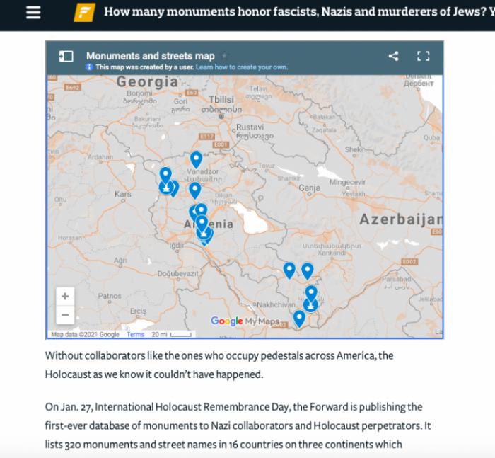 Nazi collaborator monuments in Armenia -   Forward