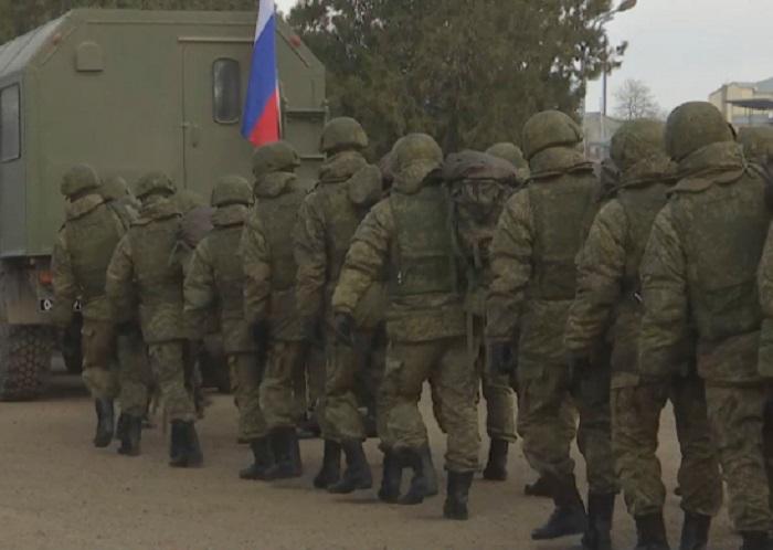 Russian servicemen leave for monitoring center in Karabakh
