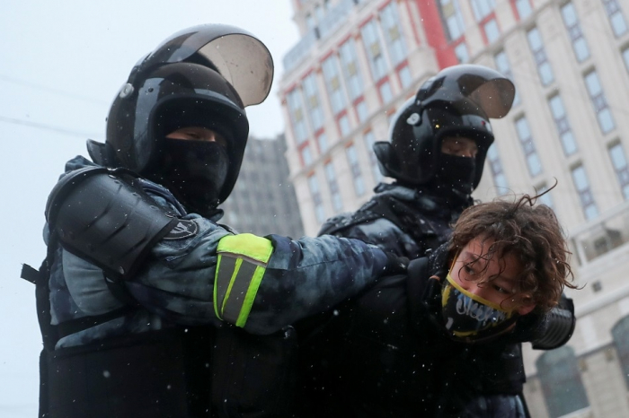 Over 2,700 protesters arrested in Russia in demonstration against jailing of Navalny