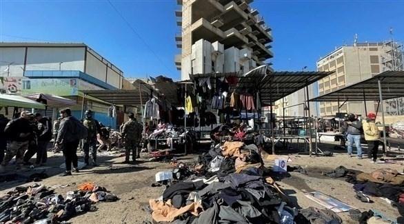 التنظيم الإرهابي يتبنى التفجير الانتحاري المزدوج ببغداد