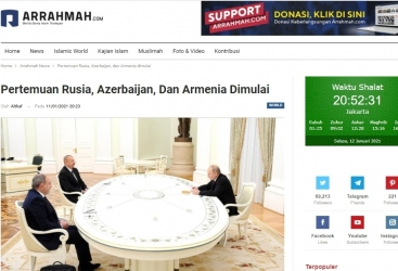 Indonesian media outlets highlight Moscow meeting of Azerbaijani, Russian and Armenian leaders