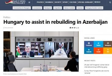 Hungría participará en la restauración de los distritos devastados de Azerbaiyán