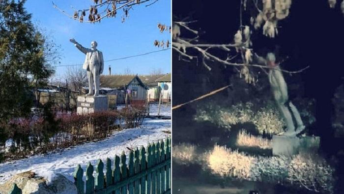 Ukraynada Leninin sonuncu heykəli söküldü