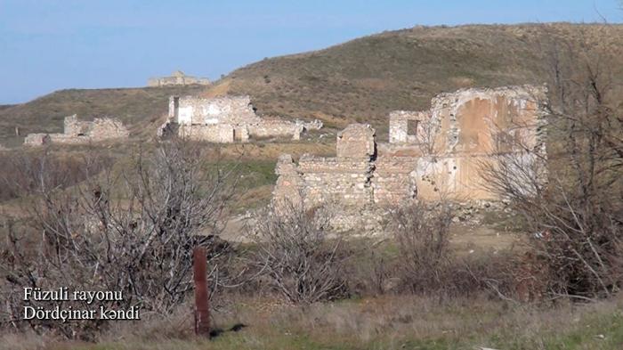 Füzulinin Dördçinar kəndinin görüntüləri -