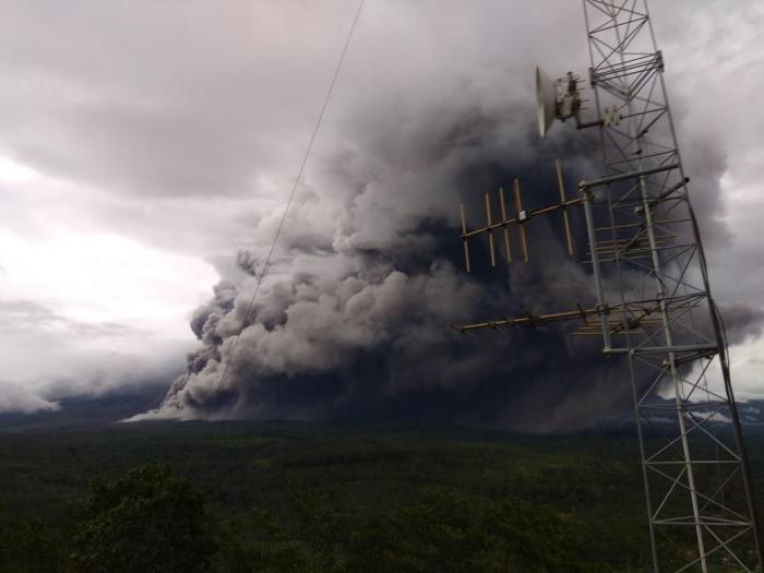 Semeru volcano blows off steam on Indonesia
