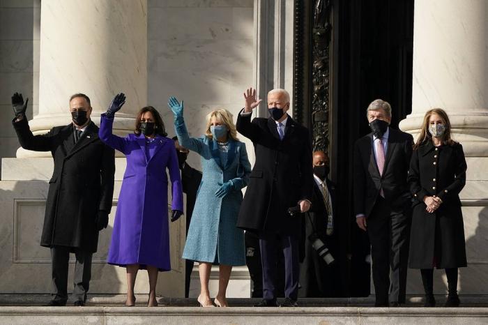 """""""يوم انتصار الديمقراطية""""... بايدن يدلي بالقسم رئيسا للولايات المتحدة... فيديو"""