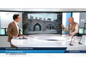 """Reza Degati habla sobre las atrocidades armenias y el multiculturalismo en Azerbaiyán en el canal de """"TV5MONDE"""" francés"""