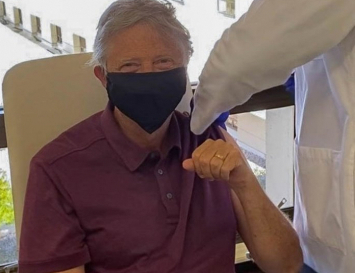 Bill Gates shares photo of himself getting first dose of COVID-19 vaccine