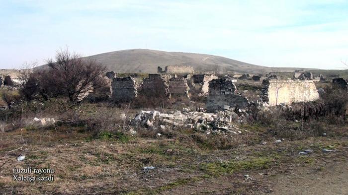 Füzulinin Xələfşə kəndinin görüntüləri -    VİDEO