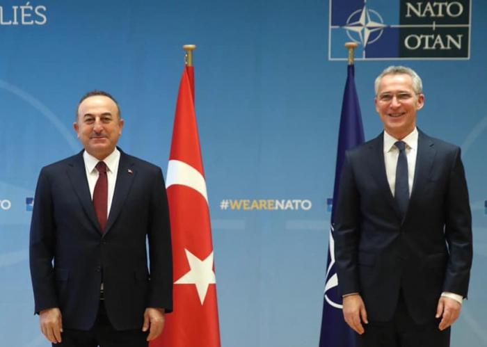 Çavuşoğlu NATO-nun Baş katibi ilə görüşdü