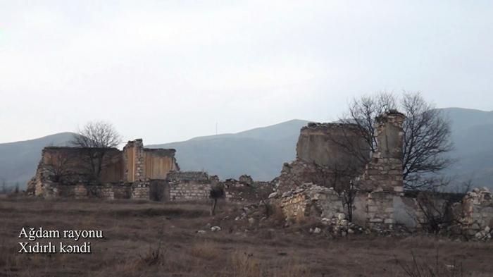 Le ministère de la Défense diffuse une   vidéo   du village de Khydyrly d