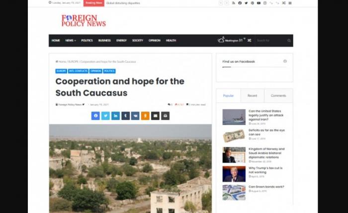 ForeignPolicyNews: السلام والتعاون في جنوب القوقاز