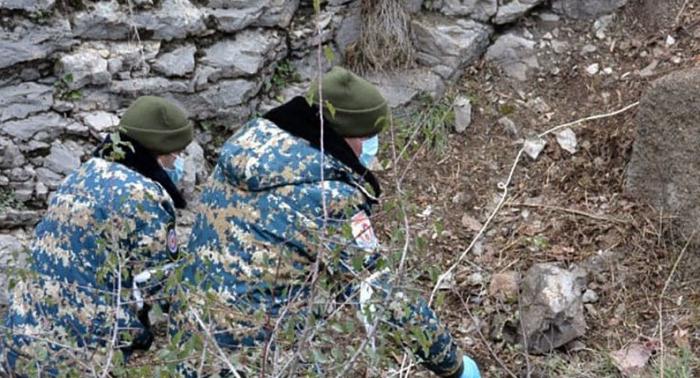 Qarabağda daha 5 erməni hərbçinin qalıqları tapıldı