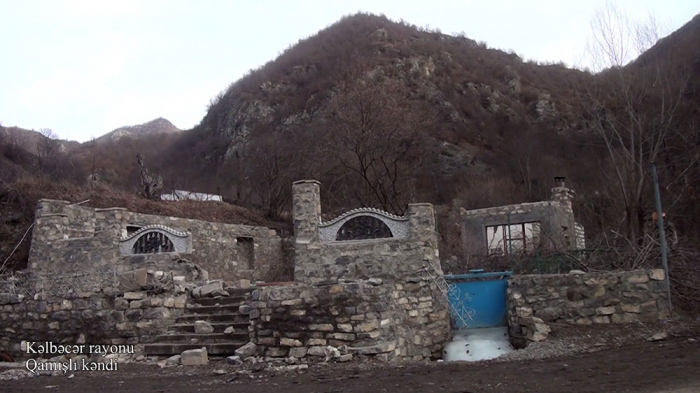 لقطات من قرية غاميشلي في كلبجار -   فيديو