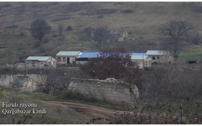 Füzulinin Qarğabazar kəndinin görüntüləri -    VİDEO