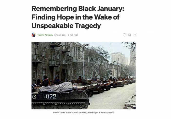 Se publica un artículo sobre la tragedia del enero negro en plataforma de medios online de EE.UU