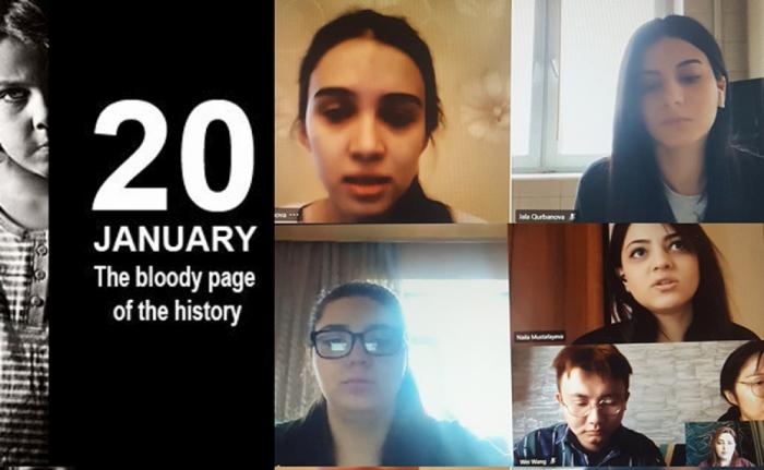 El centro ruso de la Universidad Estatal de Bakú rindió homenaje a las víctimas del 20 de enero