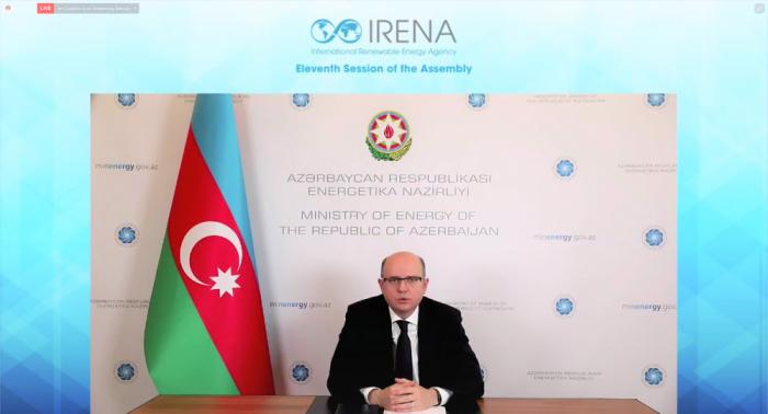 Ministro de Energía de Azerbaiyán asiste a la 11ª Asamblea de la Agencia de Energías Renovables