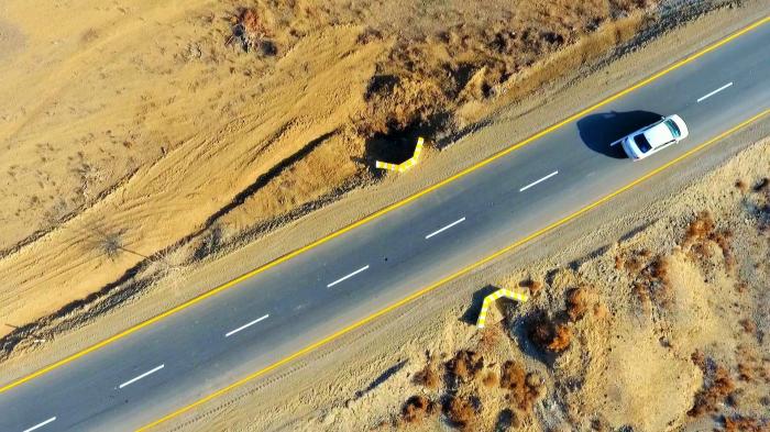 Samuxda 39.5 kilometrlik yol yenidən quruldu -    FOTO