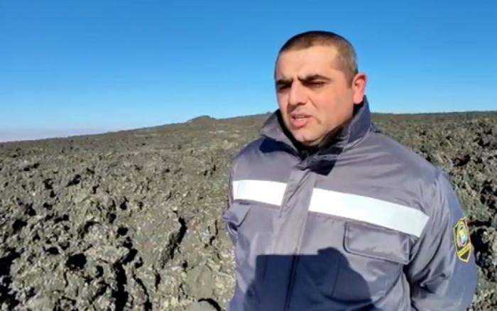 Los productos volcánicos expulsados del volcán de lodo Gushchu cubren una superficie de 3 ha