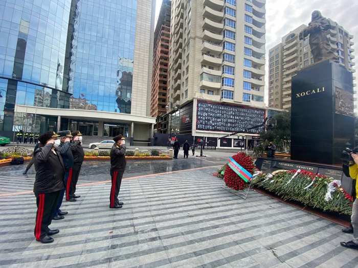 The leadership of Azerbaijan MoD visited Khojaly genocide memorial