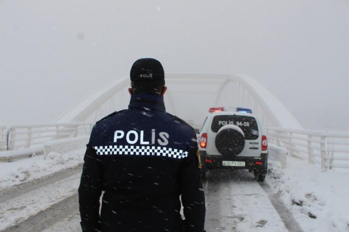 Şəki polisi gücləndirilmiş rejimdə xidmət aparır -    FOTO