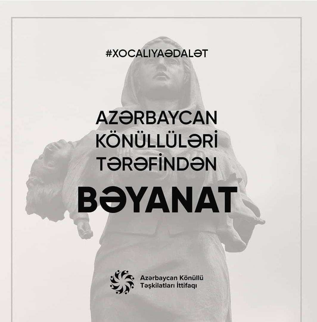 Azərbaycan könüllülərindən Xocalı soyqırımı ilə bağlı bəyanat