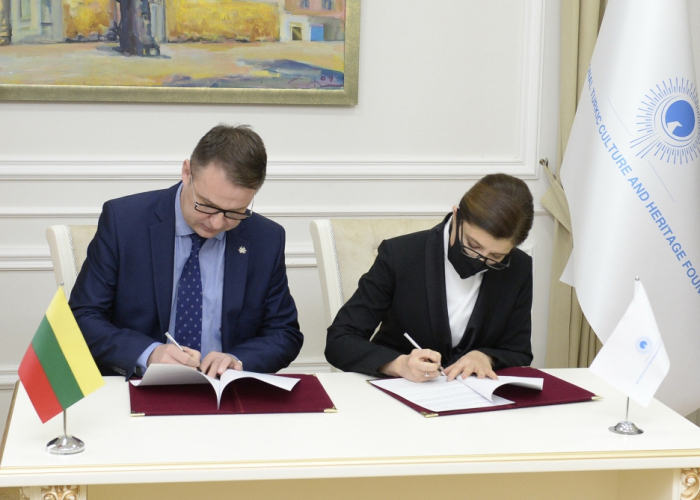 International Turkic Culture and Heritage Foundation, Embassy of Lithuania in Azerbaijan sign Memorandum of Cooperation
