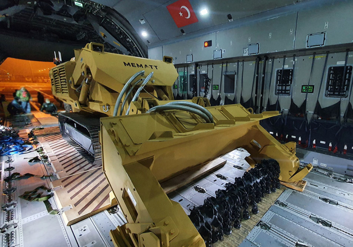 Demining equipment delivered from Turkey soon to be used in liberated Azerbaijani lands