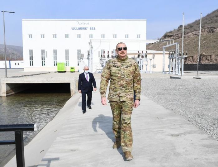 President Aliyev inaugurates Gulabird hydropower plant in Lachin -   PHOTOS