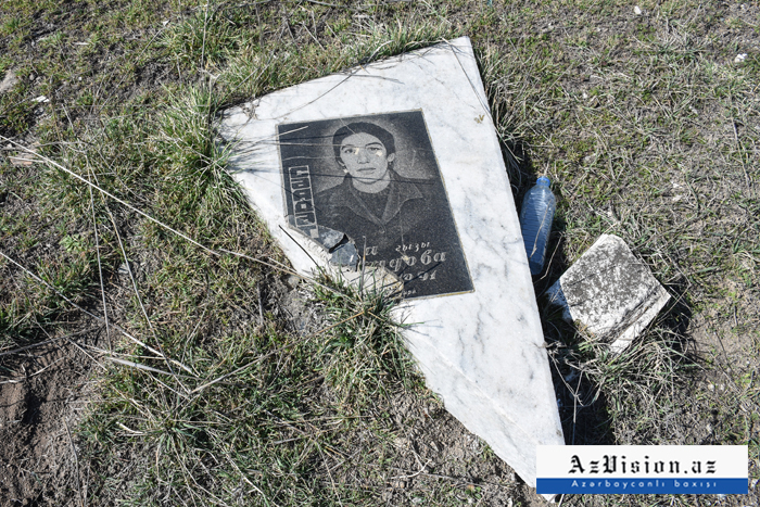 In photos:  Savagery without borders; cemetery destroyed by Armenians in Fuzuli