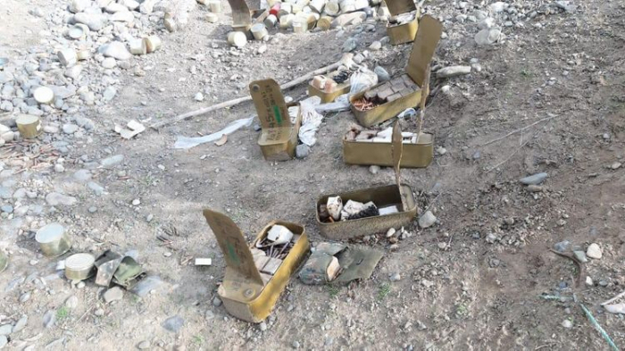 Azerbaijan continues measures on finding ammunition abandoned by Armenian troops -  PHOTO