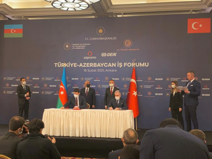 Azerbaijan, Turkey sign MoU on cooperation in field ofSMEs