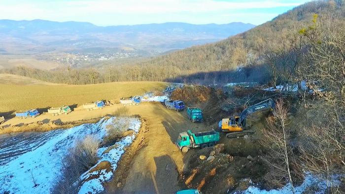 Se anuncian los nombres de las empresas turcas que construyen carretera a Shusha