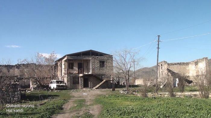 Le ministère azerbaïdjanais de la Défense diffuse une   vidéo   du village de Hal de Goubadly