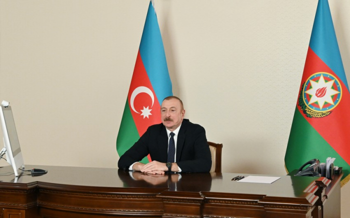 President Ilham Aliyev receives in video format co-chair of Nizami Ganjavi Int'l Center - UPDATED