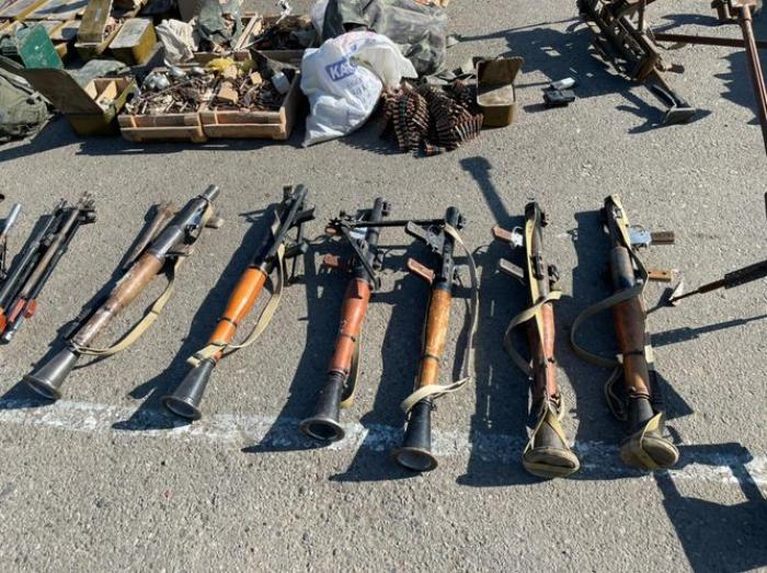 Azerbaijani police find weapons, ammo left by Armenians in Jabrayil