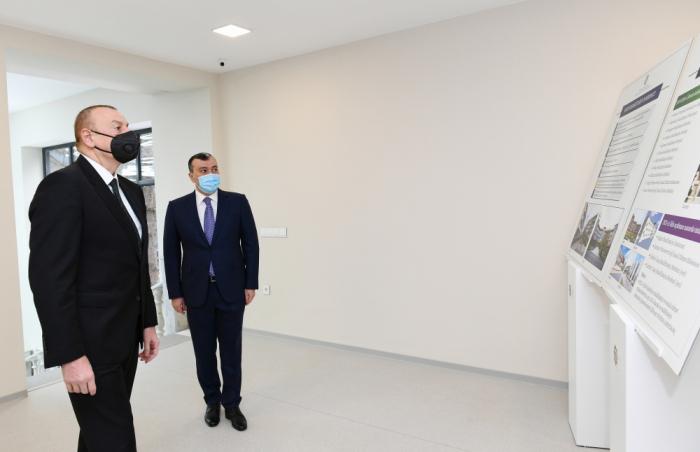 İlham Əliyev Şağan Reabilitasiya Pansionatının açılışında