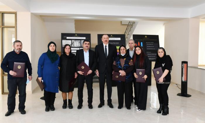 Azerbaijani President meets families of martyrs and war veterans - PHOTOS