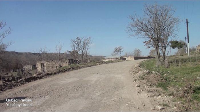 Le ministère de la Défense diffuse une   vidéo   du village de Youssifbeyli de la région de Goubadly