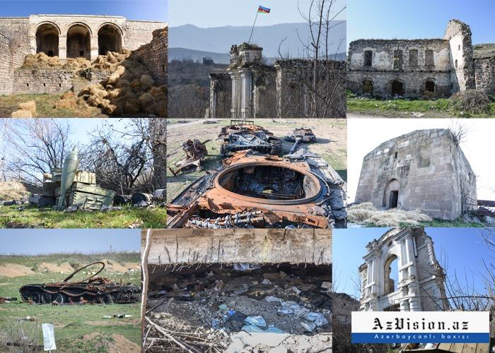 Eines Tages in Füzuli, das von Armeniern in eine zerstörte Stadt verwandelt wurde -   REPORTAGE