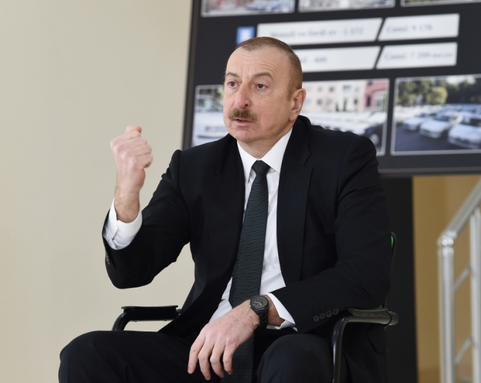 Azerbaijani president warns some forces adhering to revanchist views