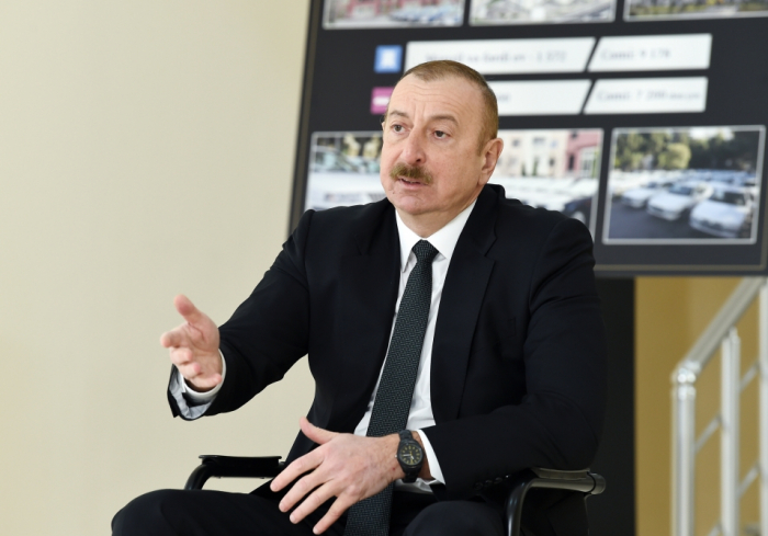 Präsident Aliyev   - Aserbaidschanischer Staat tut sein Möglichstes für die Familien der Märtyrer und Kriegsbehinderte