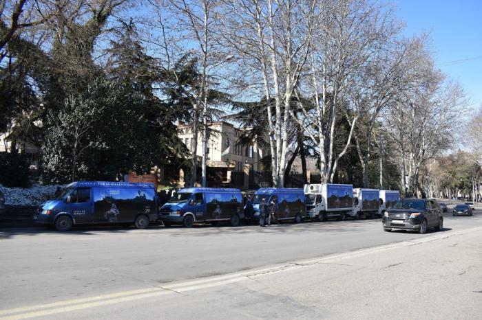 Tbilisidə Xocalıya həsr edilmiş avtoyürüş keçirildi