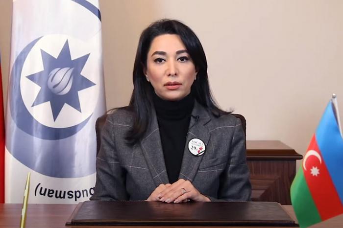 LaDefensora del Pueblo de Azerbaiyán hace un llamamiento en video a la comunidad internacional sobre el genocidio de Joyalí