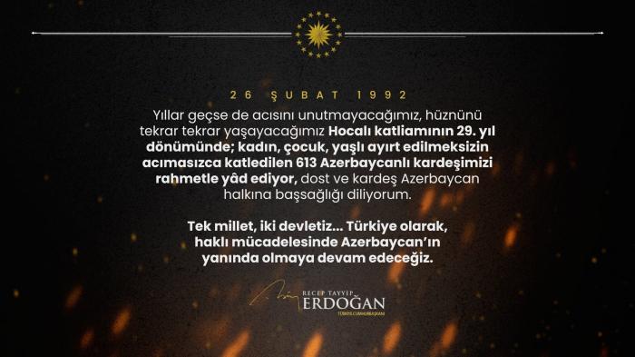 Erdogan comparte sobre el genocidio de Joyalí