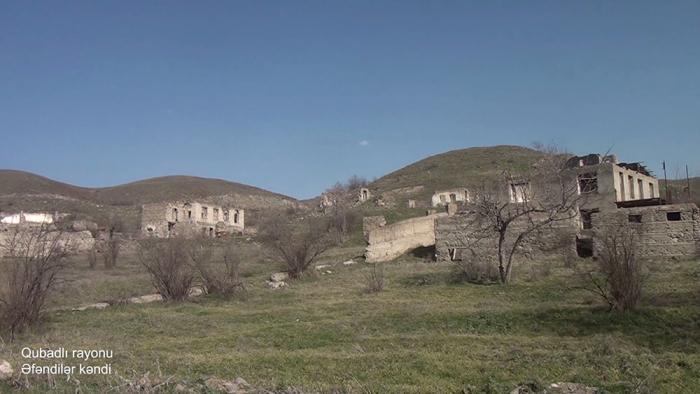 El Ministerio de Defensa presenta imágenes de la aldea Efendiler de la región de Gubadli